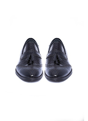 Wessi %100 Deri Loafer Ayakkabı Siyah